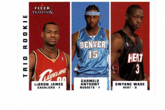 2003-04 Fleer Tradition Trio Rookie 10 Card Set 291-300 LeBron James Dwyane Wade