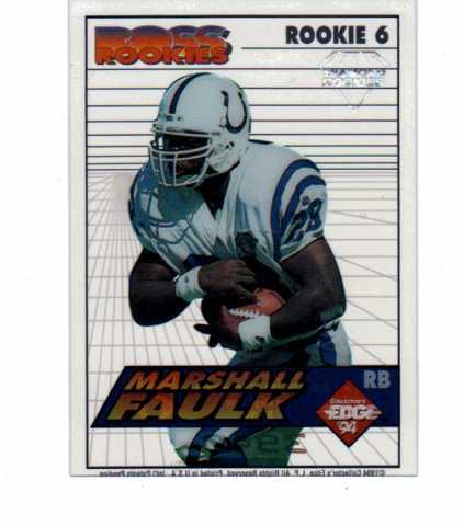 1994 Collector's Edge Boss Rookies Update Diamond Complete 25 Card Set NFL
