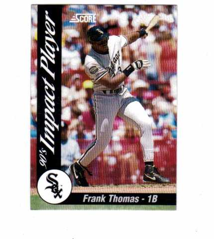 1992 Score Impact Players 45 Card Set #1-45 Baseball MLB Frank Thomas Griffey