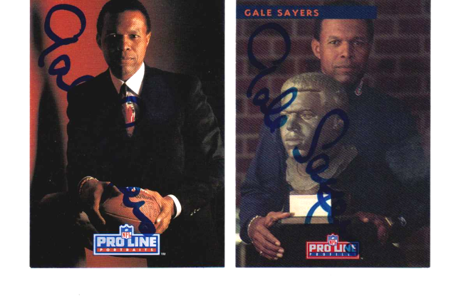 1993 Pro Line Profiles Autographs Gale Sayers 9 Card Set & 1991 Portraits Auto