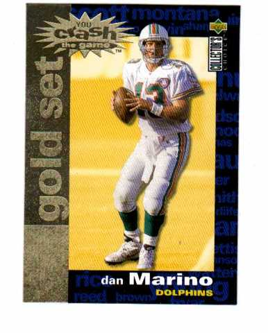 1995 Collector's Choice Crash The Game Gold Redemption 30 Card Set NFL Marino