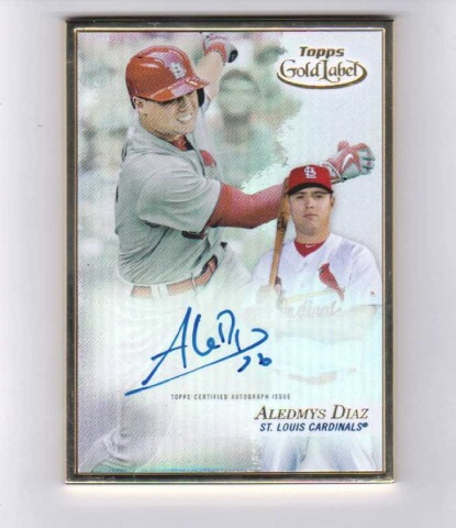 2017 Aledmys Diaz Topps Gold Label Certified Autograph Issue