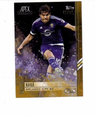 2015 Kaka Topps Apex Soccer Gold Relic /50