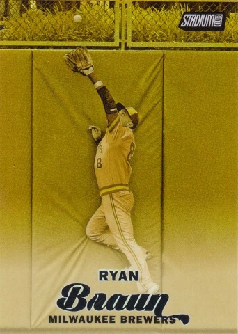 2017 Ryan Braun Topps Stadium Club Black Refractor