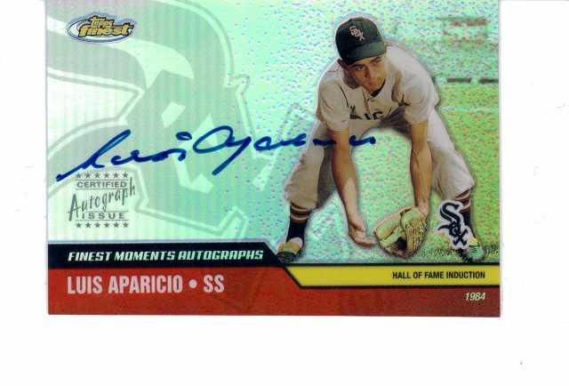 Luis Aparicio 2002 Topps Finest Moments Autographs #FMALA auto signed White Sox