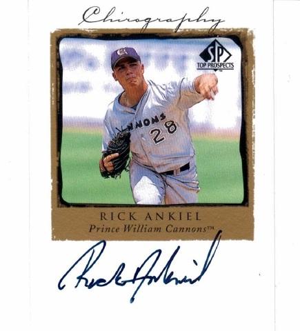 Rick Ankiel 1999 UD Upper Deck SP Top Prospects Chirography Autograph #RIA auto