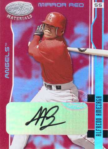 Leaf Certified Alfredo Amezaga Mirror Red Auto /100