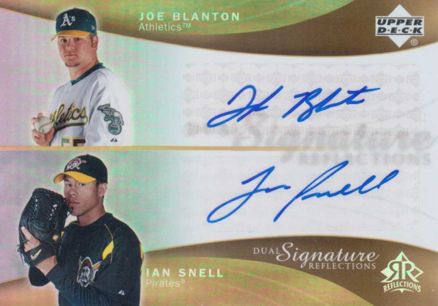 2005 Reflections Dual Signatures #JBIS Joe Blanton/Ian Snell T3