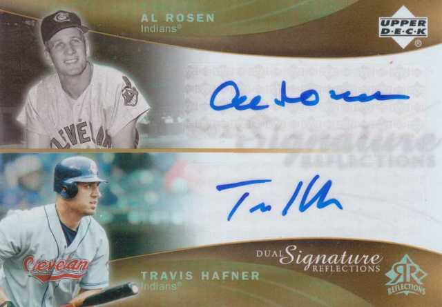 2005 Reflections Dual Signatures #ARTH Al Rosen/Travis Hafner T2