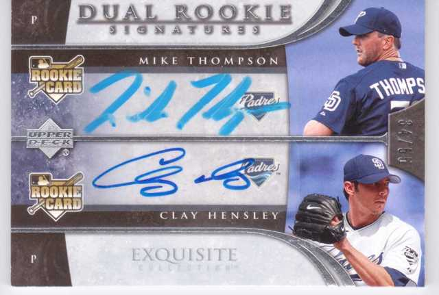 2006 Exquisite Collection #58 Hensley (RC)/Thompson RC