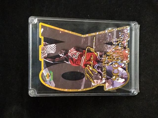1997 Upper Deck Michael Jordan 9X Scoring Champion Ltd Edition Die Cut 4472/5000