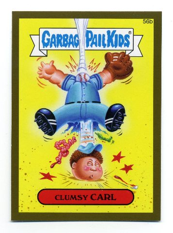 2015 Garbage Pail Kids Series One Gold #56b Clumsy Carl PR85