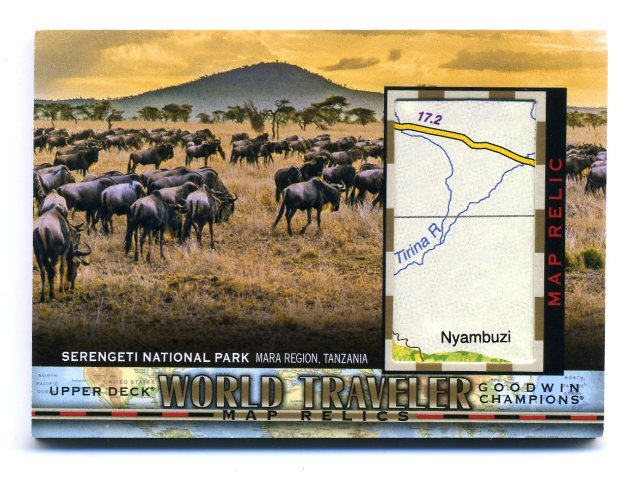 2018 Upper Deck Goodwin Champions World Traveler Maps  #WT127 Serengeti Park