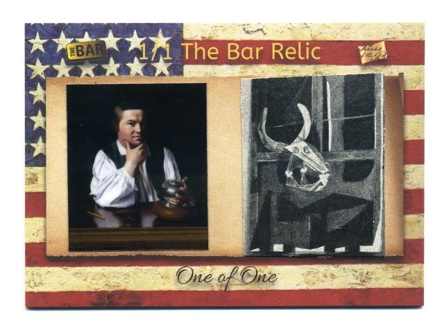 2018 The Bar Pieces of the Past One of One Paul Revere Stamp w/ Picasso Book