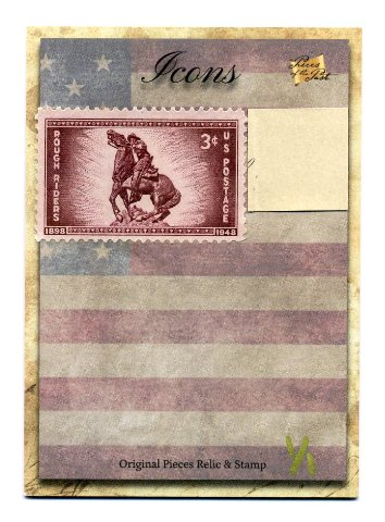 2018 The Bar Pieces of Past Hybrid Edition Icons Stamp/Relic Rough Riders