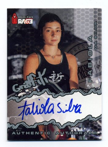 2000 Press Pass Rage Sports Extreme Graffiti Autographs #19 Fabiola da Silva