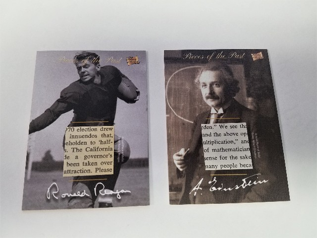 The Bar Pieces Of The Past Mementos Ronald Reagan & Antiquity Albert Einstein