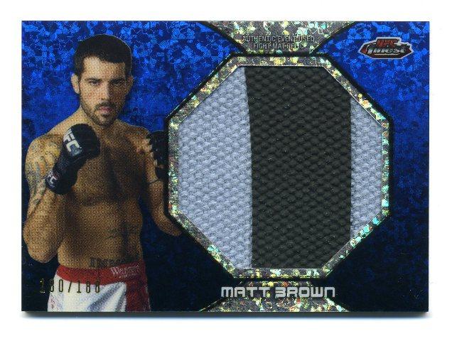 2013 Finest UFC Jumbo Fight Mat Relics Refractors Blue #FFMMB Matt Brown /188