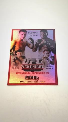 2010 Topps UFC Main Event Fight Posters #UFN11 UFN 11/Florian/Thomas/Diaz/Leben