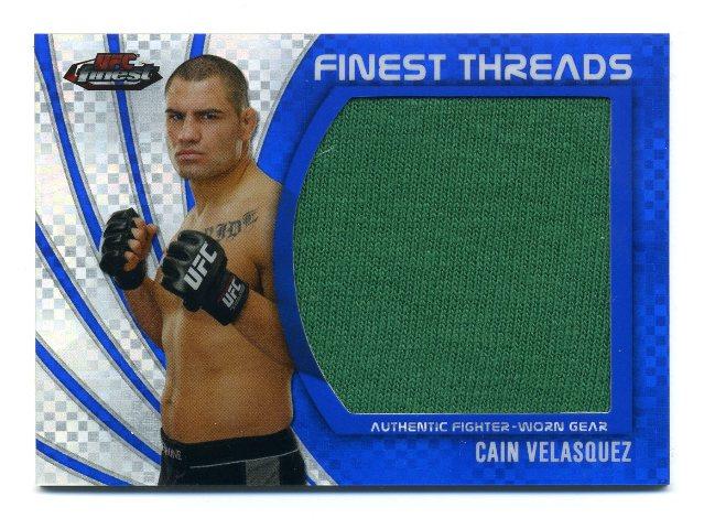 2012 UFC Finest Threads Jumbo Fighter Relics X-Fractors #JFTCV Cain Velasquez