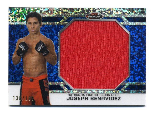 2013 UFC Finest Threads Jumbo Fighter Relic Refractor Blue Joseph Benavidez /188