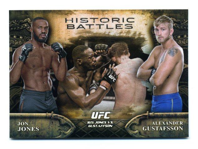 2014 Topps UFC Bloodlines Historic Battles #HB20 Alexander Gustafsson/Jon Jones