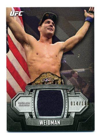 2014 Topps UFC Knockout Relics #KRCW Chris Weidman /188