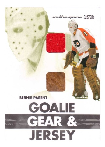 2004 Bernie Parent In The Game Used Goalie Gear & Jersey Relic