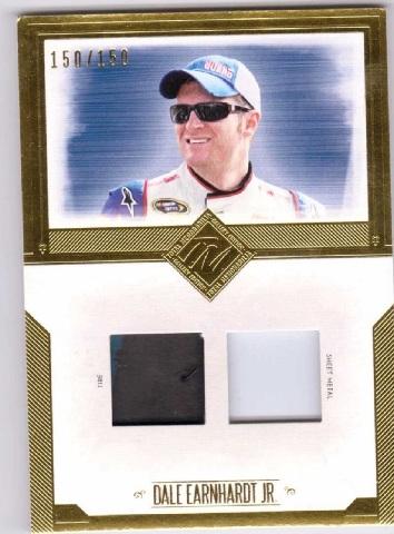 Dale Earnhardt Jr. 2014 Panini Total Memorabilia Dual Swatch Gold #TMDE /150