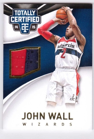 John Wall 2014/15 Panini Totally Certified Jersey Gold #44 Relic 4/10