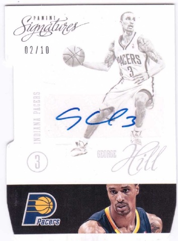 George Hill 2012/13 Panini Signatures Autograph #77 auto 2/10 Milwaukee Bucks