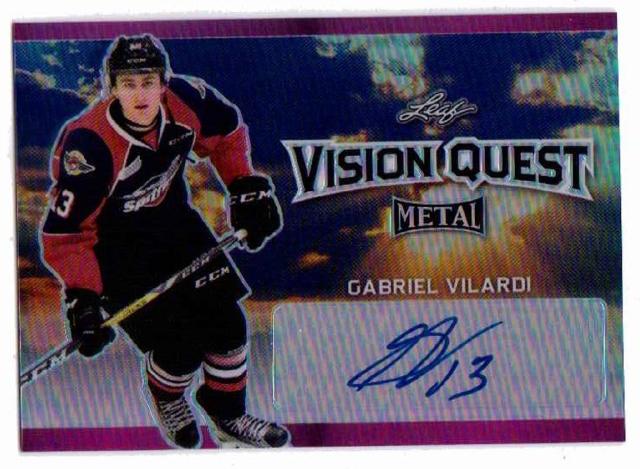 Gabriel Vilardi 2016-17 Leaf Metal Vision Quest Prismatic Purple Autographed /07