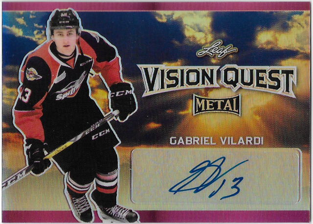 Gabriel Vilardi 2016-17 Leaf Metal Vision Quest Prismatic Pink Autographed #4/7