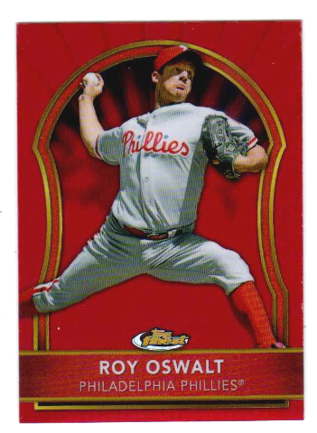 Roy Oswalt 2011 Topps Finest Red Refractor /25 Phillies Astros Rangers Rockies