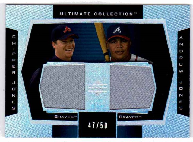 Chipper Jones Andruw Jones 2003 Ultimate Collection Dual Jersey Relic /50 Braves