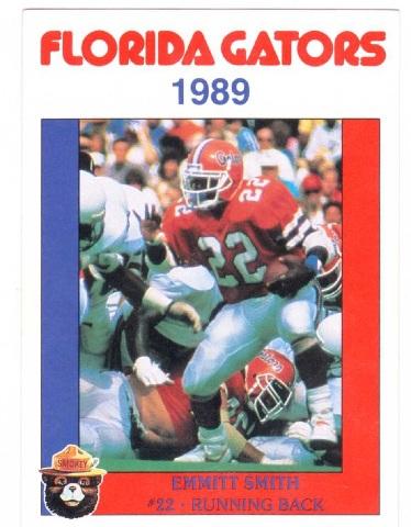 Emmitt Smith Florida Gators 1989 Smokey Bear USDA Forrest Service #11 Rookie RC