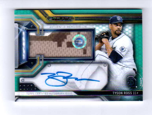 Tyson Ross 2016 Topps Strata Clearly Authentic Autograph Relic Green #CAARTR /75