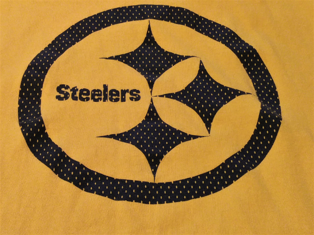 NFL Team Apparel Pittsburgh Steelers Yellow Graphic T-Shirt Size XL Football