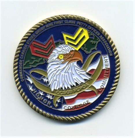 Commander Carrier Strike Group 9 First Class Petty Officer Association Coin