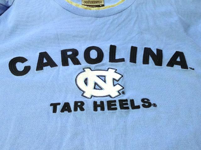 Colosseum Athletics Carolina Tar Heels Layered Long Sleeve T-Shirt Sz L NCAA