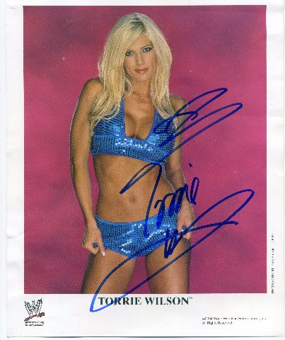 2004 Torrie Wilson Signed Autographed 8X10 Picture Photo WWE Diva Playboy