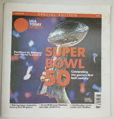 Panthers vs Broncos USA Today Sports Special Edition Super Bowl L (50)