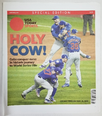 Chicago Cubs World Series Win USA Today Sports Special Edition