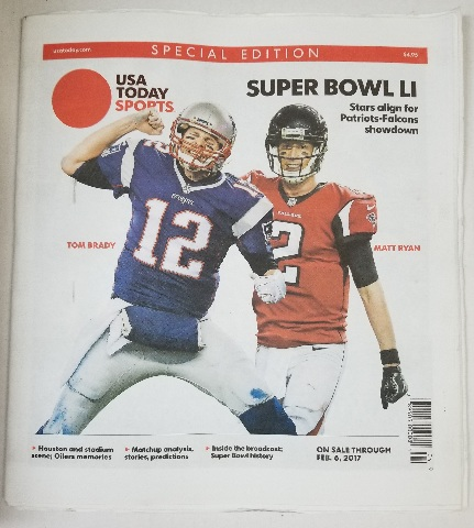 Tom Brady Matt Ryan USA Today Sports Special Edition Super Bowl LI (51)