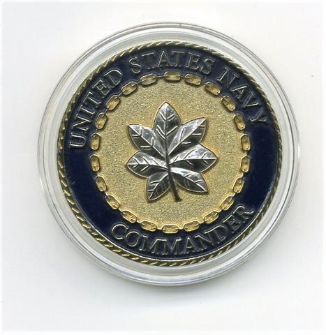 "US Navy USN Commander CDR Challenge Coin 1.5"""