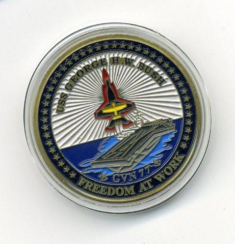 USS George H. W. Bush CVN-77 Naval Aviation Heritage Challenge Coin