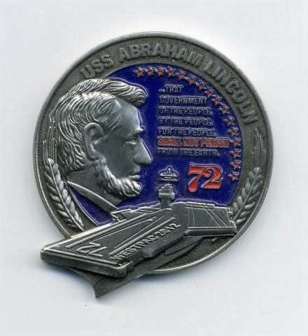 "USS Abraham Lincoln CVN-72 ""Shall Not Perish"" 1.75"" Challenge Coin"
