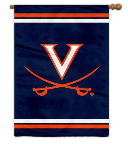 "Virginia Cavaliers UVA Outdoor House Flag Banner Blue 28"" x 40"""