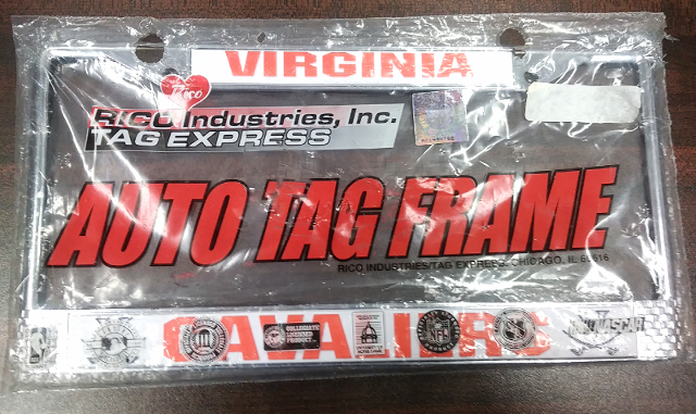 Virginia Cavaliers Auto Tag License Plate Frame Rico Industries NCAA NOS
