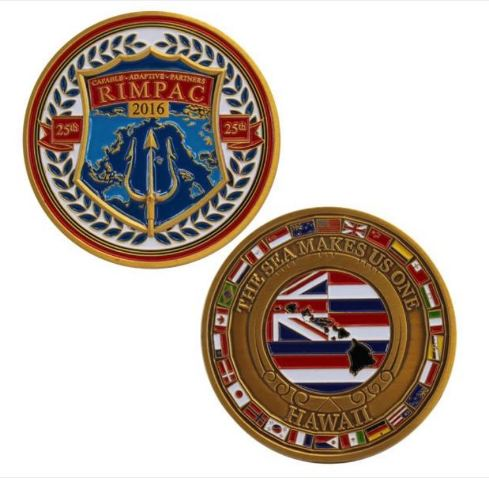 "Vanguard NAVY 2016 RIMPAC 2"" ROUND COIN"